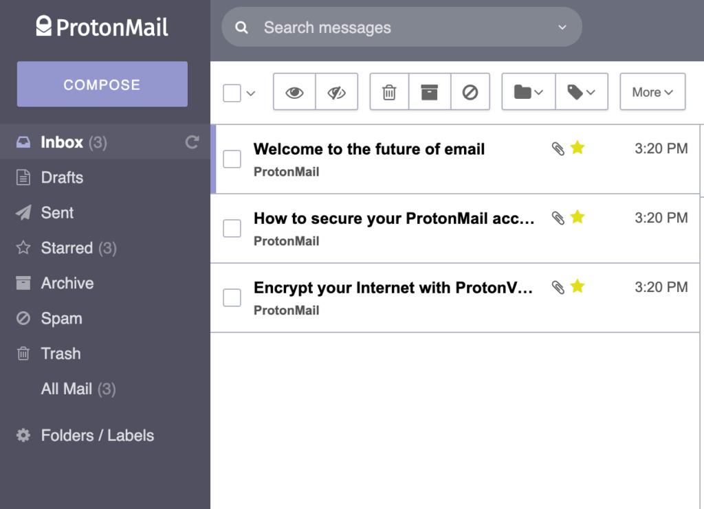 ProtonMail design
