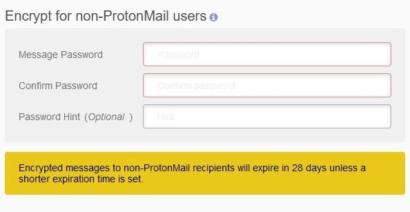 Cryptage ProtonMail